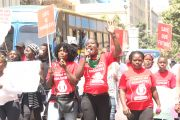 BHESP Joins women to protest over Sharon Otieno's death